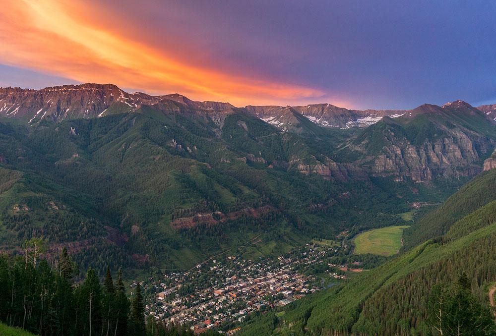 Telluride Sunset Mountain